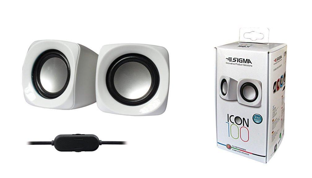 סט רמקולים USB למחשב  ICON 100 , צבע לבן