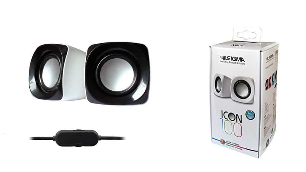 סט רמקולים USB למחשב  ICON 100 , צבע לבן+שחור