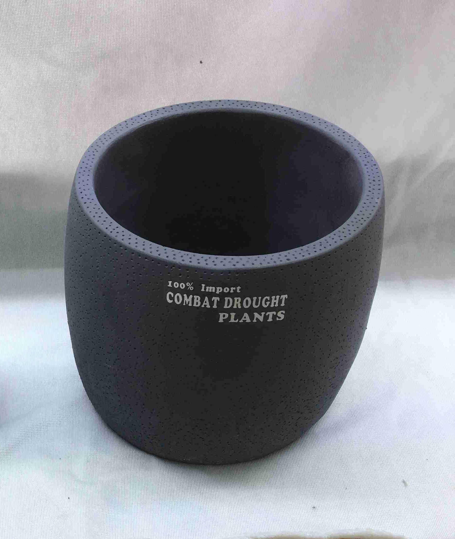 """כלי קרמיקה עגול 14 ס""""מ אפור/ שחור"""
