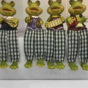 סט 4 צפרדעים אקורדיון