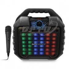 רמקול בידורית בלוטוס TWS קריוקי עם תאורת RGB ומיקרופון חוטי LX-45