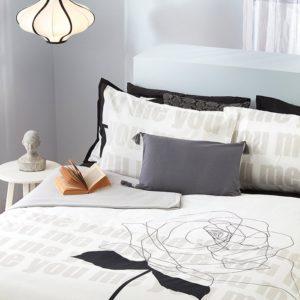 סט מצעים מודפס 100% פוליאסטר (מיקרופייבר) מסדרת ריביירה - דגם טוטו סט מיטה וחצי 120x200