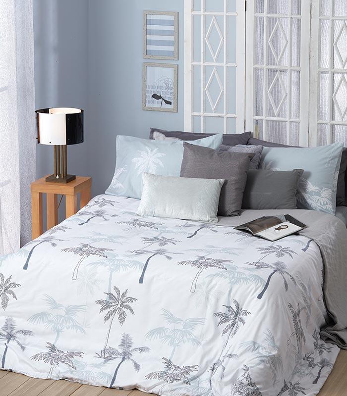 סט מצעים מודפס 100% פוליאסטר (מיקרופייבר) מסדרת קוקטייל - דגם דקסטר סט מיטה וחצי 120x200