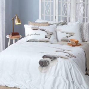 סט מצעים מודפס 100% פוליאסטר (מיקרופייבר) מסדרת קוקטייל - דגם דומינו סט מיטה וחצי 120x200