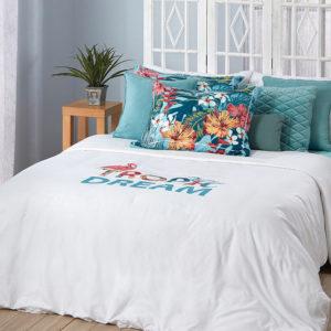 סט מצעים מודפס 100% פוליאסטר (מיקרופייבר) מסדרת קוקטייל - דגם דילן סט מיטה וחצי 120x200