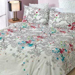 סט מצעים מסדרת קנדי 100% כותנה - דגם כרמן מיטה וחצי 120x200