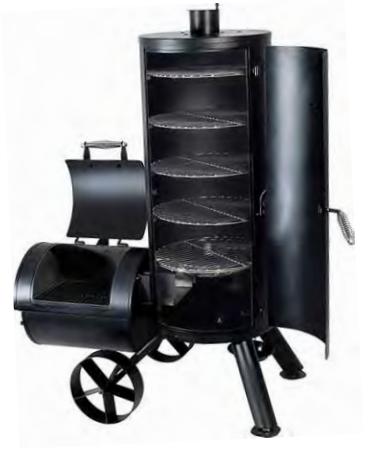 מעשנת עץ חבית SLIM HP
