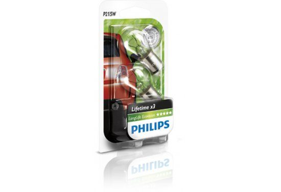 זוג נורות PHILIPS P21/5W LongLife Ecovis