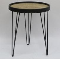 שולחן צד עגול קטן 40x40x48.5 ס''מ