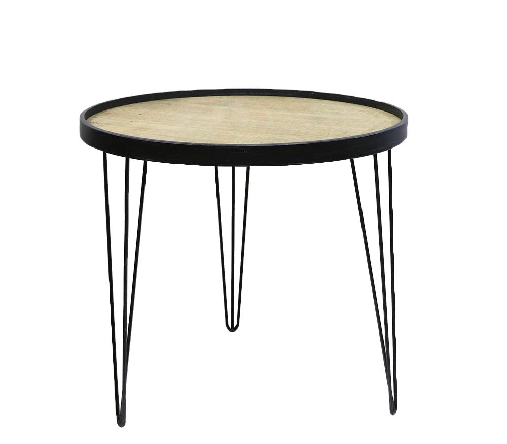 שולחן צד עגול גדול 60x60x55 ס''מ