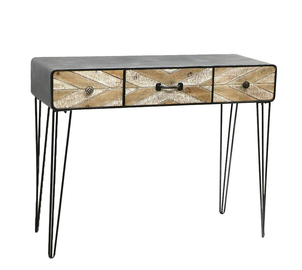 שולחן מסדרון אלכסונים 100x38.5x80 ס''מ