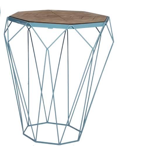שולחן צד יהלום קטן בצבע תכלת