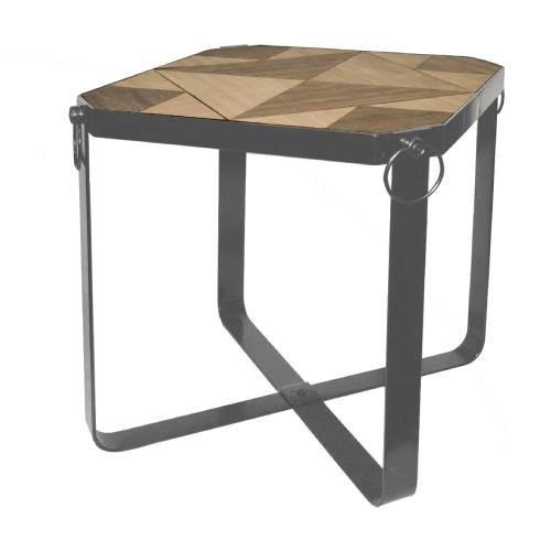 שולחן עץ מרובע מתקפל גדול 50.5x50.5x50 ס''מ