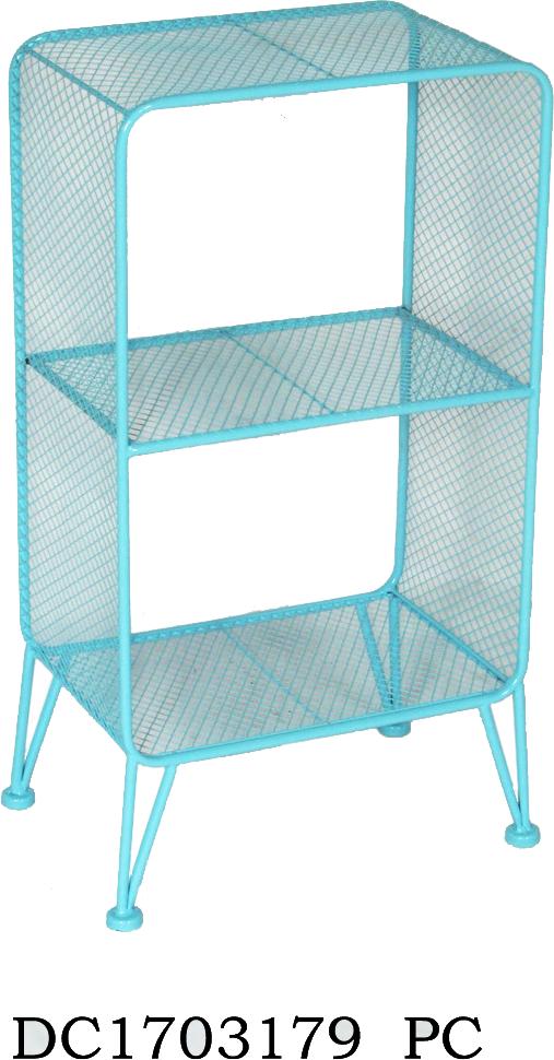אחסונית רשת מתכת תכלת- 2 תאים