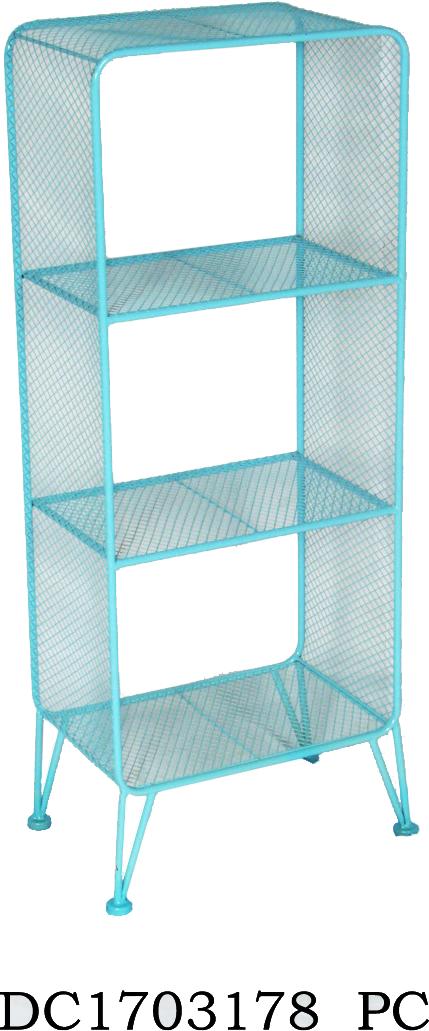 אחסונית רשת מתכת תכלת- 3 תאים