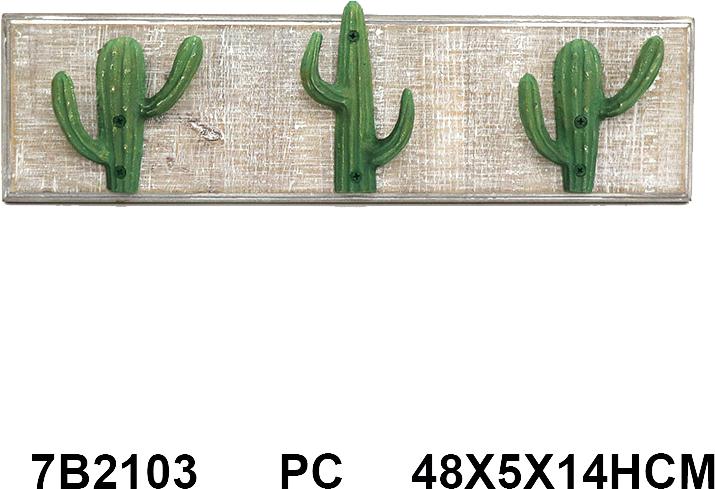 מתלה שלישיית קקטוסים 60x4.5x14 ס''מ