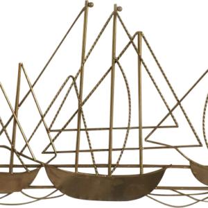 קישוט קיר ספינות זהב דגם 7HT404PC