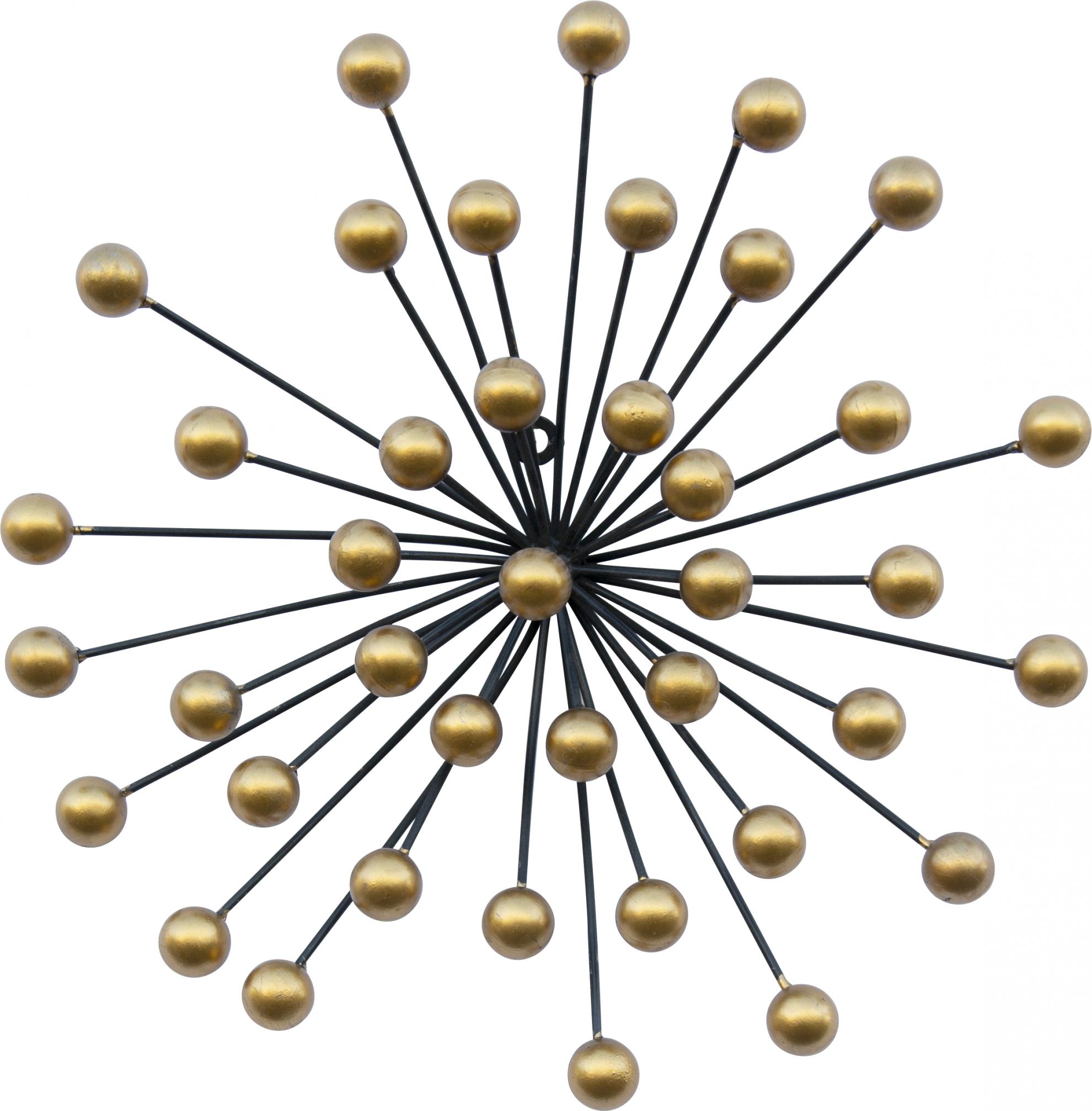 קישוט קיר כדוריות זהב קטן