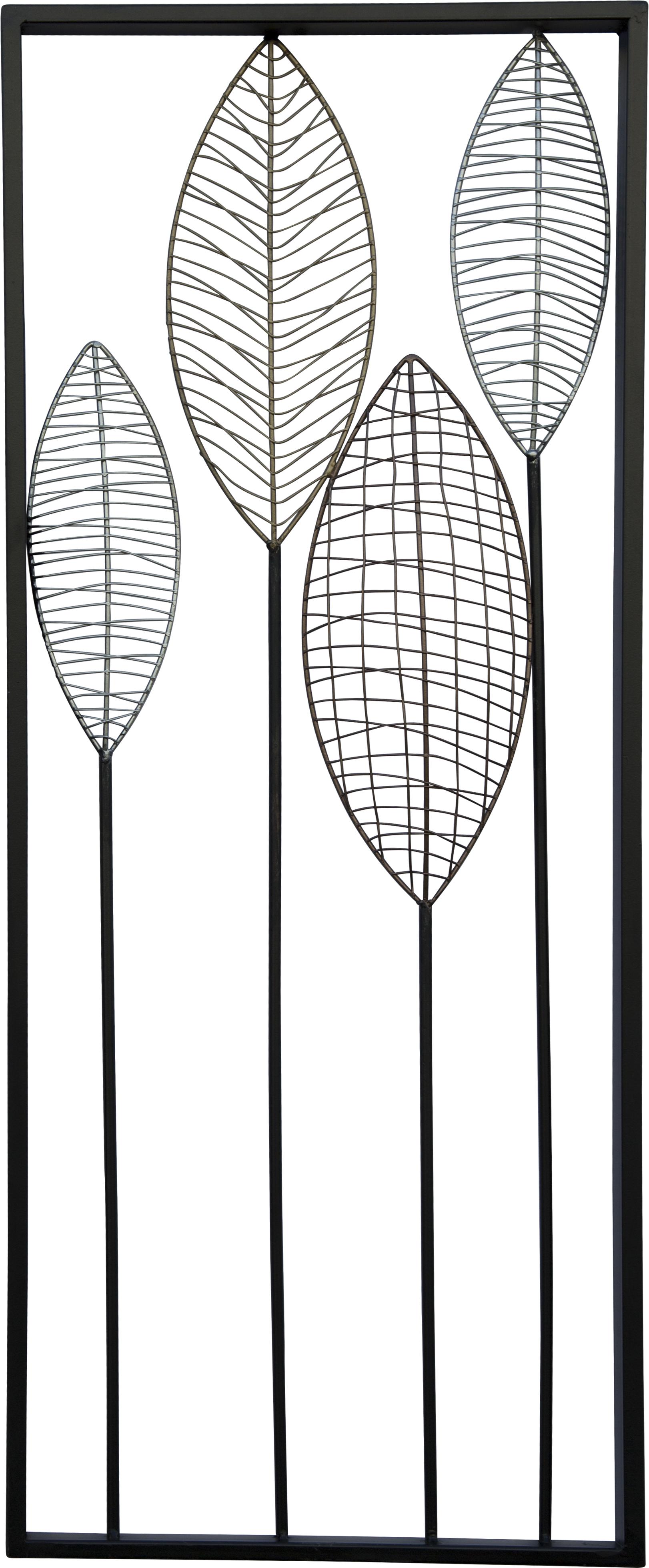 קישוט קיר עלים ברושים 30.5x81.3x2