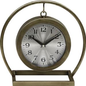 שעון שולחני מוזהב תלוי