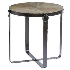 שולחן עץ עגול מתקפל גדול