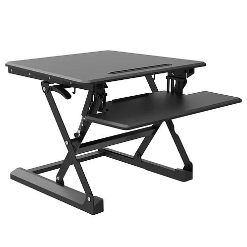 עמדת עבודה ישיבה- עמידה בעלת 2 משטחים עם מנגנון הגבהה פניאומטי