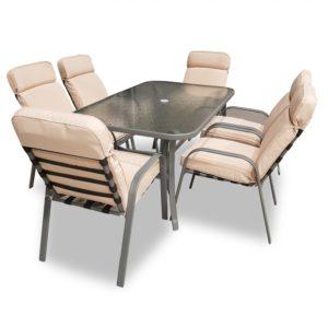 פינת אוכל טורינו שולחן + 6 כיסאות