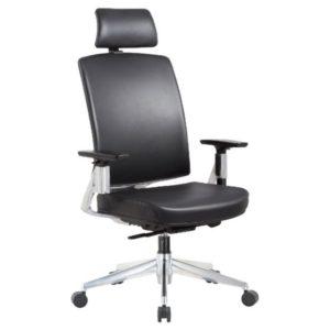 כסא עור מנהלים ארגונומי ואורטופדי שחור