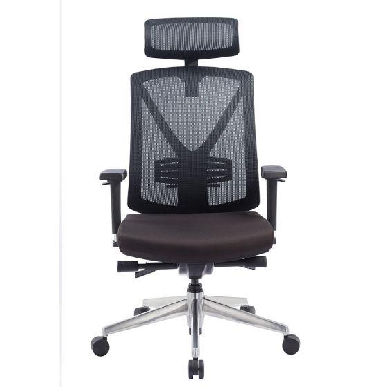כסא מנהלים רשת ארגונומי ואורטופדי לישיבה ממושכת בצבע שחור