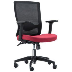 כסא משרדי אורטופדי איכותי שחור-אדום