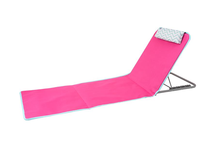 מיטת חוף מליבו מתקפלת בצבע ורוד