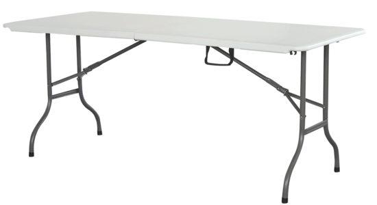 שולחן מתקפל 2.44 מטר - בצבע לבן ''כתר''