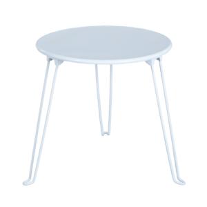 שולחן צד מעוגל לבן