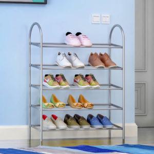מעמד לנעליים 5 שלבים בצבע כרום