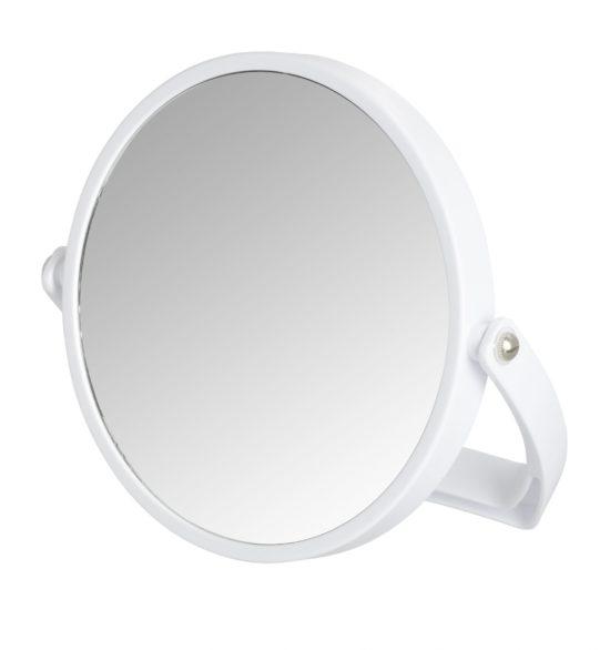 מראה עגולה קוסמטית מגדילה פי 500% בצבע לבן