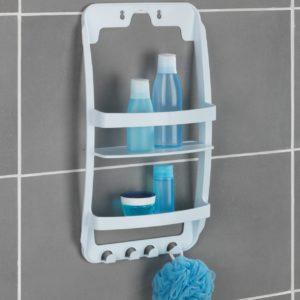 מתלה ארגונית פלסטיק לאמבטיה