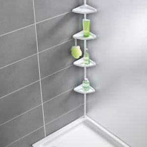 מתקן מדפים אוניברסלי למקלחת