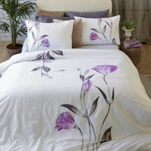 סט מצעים מסדרת אלמנט 100% כותנה - דגם תיקה מיטה וחצי 120x200