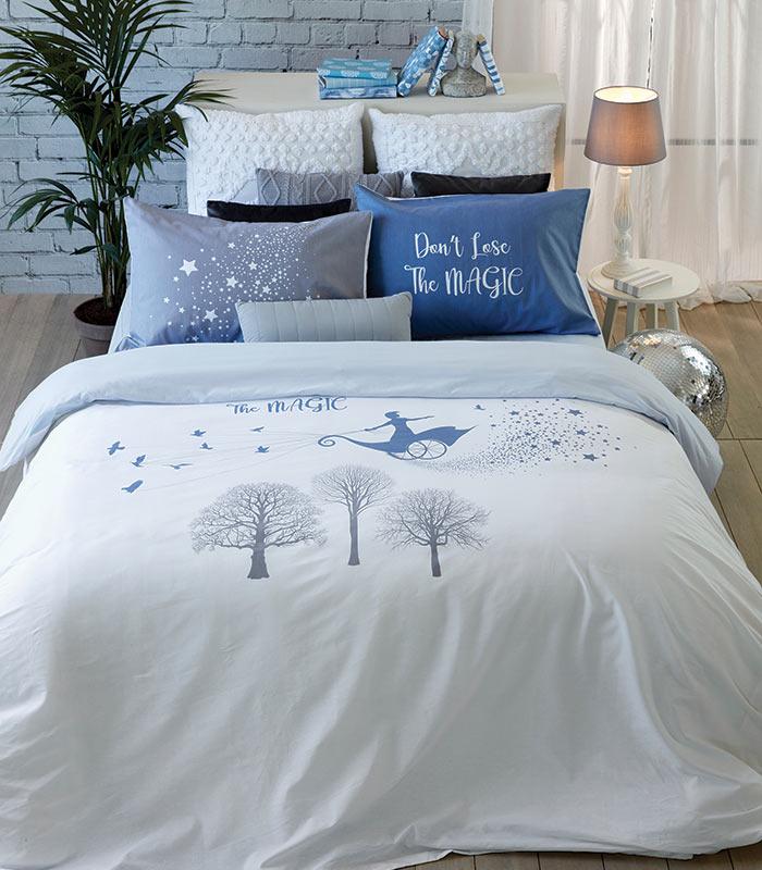 סט מצעים מסדרת אלמנט 100% כותנה - דגם תבל מיטה וחצי 120x200