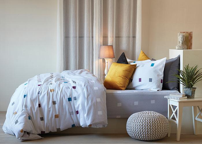 סט מצעים מסדרת אלמנט 100% כותנה - דגם תמיר מיטה וחצי 120x200