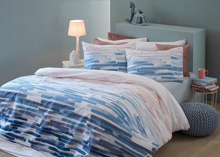 סט מצעים מסדרת אלמנט 100% כותנה - דגם תירוש מיטה וחצי 120x200