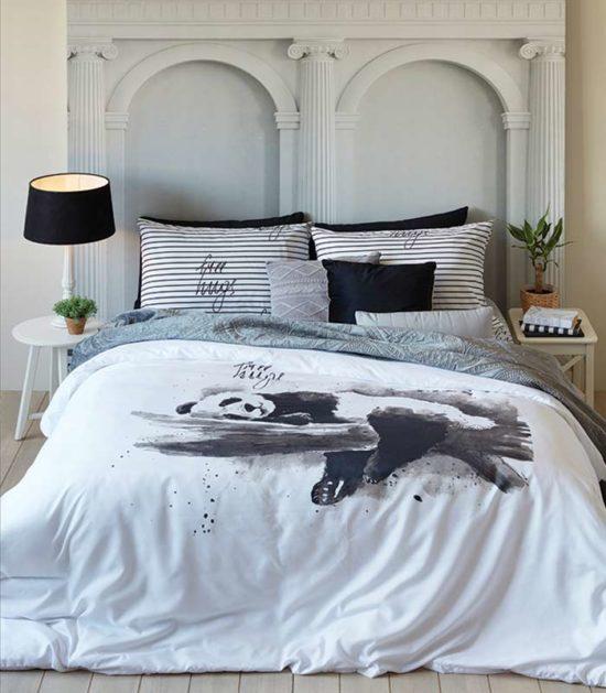 סט מצעים מיקרוסאטן מסדרת קולוני דגם אמבר סט מיטה וחצי 120x200