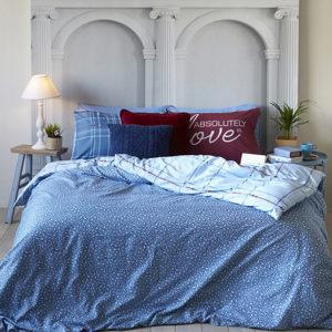 סט מצעים מיקרוסאטן מסדרת קולוני דגם אבסולוט סט מיטה וחצי 120×200