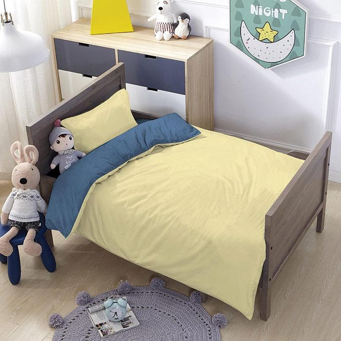 סט מצעים לילדים 100% פוליאסטר מסדרת ספורט - דגם סאן מיטת מעבר 70x140
