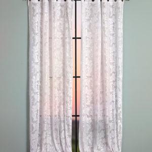 וילון דגם קארה וילון ארוך 140/250 לבן