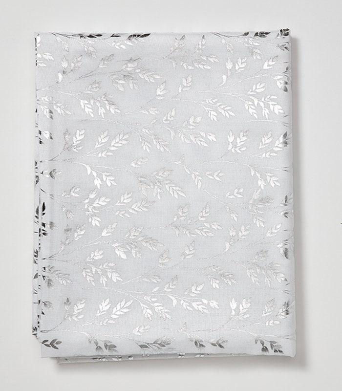 מפת שולחן דגם עלים 150/300 לבן