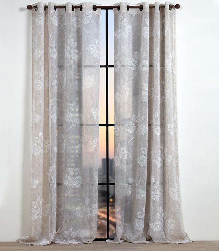 וילון דגם שארלוט וילון קצר 140/160 לבן