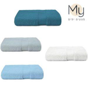 מגבת גוף XL רכה ומלטפת 100x150 במגוון צבעים
