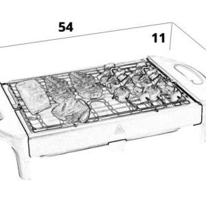 מנגל חשמלי נירוסטה TURBO GRILL דגם ATL-6003