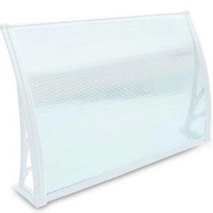 סוכך כניסה/חלון פוליקרבונט לבן 1000DX900W hollow white